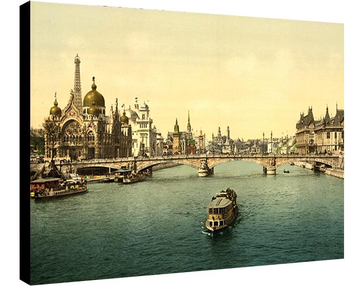 Paris,  la seine et l\'expo universelle de 1900, Dim. : 50 cm x 70 cm