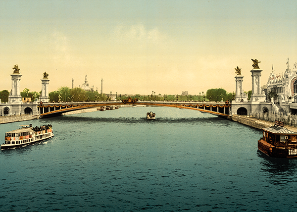 Paris,  expo universelle 1900, Dim. : 50 cm x 70 cm