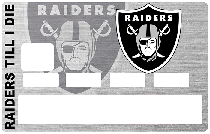 Sticker pour carte bancaire, Tribute to Oakland Raiders