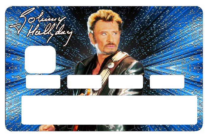 Sticker pour carte bancaire, Tribute to Johnny Hallyday, 2 éme edit. limitée 300 ex, 1 sur 300