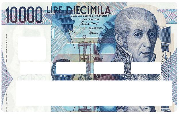Sticker pour carte bancaire, 10000 LIRES