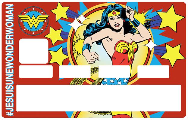 Sticker pour carte bancaire, Tribute to Wonder Woman
