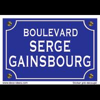 Sticker nom de rue, SERGE GAINSBOURG