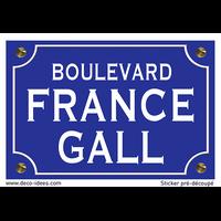 Sticker nom de rue, FRANCE GALL