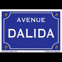Sticker nom de rue, DALIDA