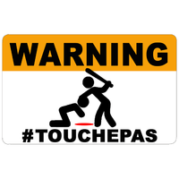 Sticker décoratif WARNING, Ne touche pas !!