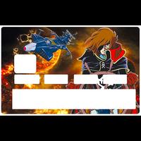 Sticker pour carte bancaire, Albator, le corsaire de l'espace