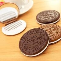 Miroir de sac, cookie, avec peigne