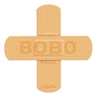 Sticker pour auto, pansement pour GROS BOBO Dim.: 8 cm x 8 cm