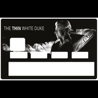 Sticker pour carte bancaire, DAVID BOWIE, The Thin white duke