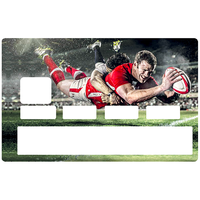 Sticker pour carte bancaire, RUGBY