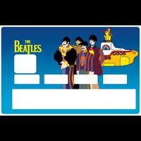 Sticker pour carte bancaire, THE BEATLES Yellow submarine