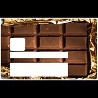 Chocolat, Sticker pour carte bancaire type ELECTRON