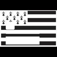 Drapeau breton, Gwenn-ha-du, Sticker pour carte bancaire type ELECTRON