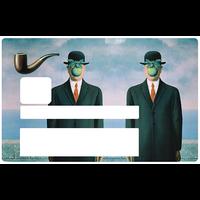 Hommage a Magritte, Sticker pour carte bancaire type ELECTRON
