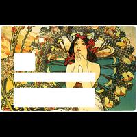 La femme art deco, Sticker pour carte bancaire type ELECTRON