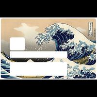 La vague de Kanagawa de Hokusai, Sticker pour carte bancaire type ELECTRON
