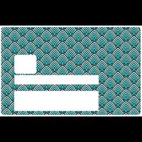 Cône bleu, Sticker pour carte bancaire type ELECTRON