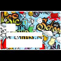 Graffiti Bomb, Sticker pour carte bancaire type ELECTRON