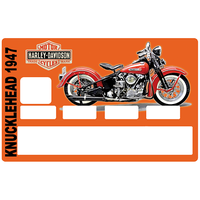 Sticker pour carte bancaire, Harley Davidson KNUCKLEHEAD 1947