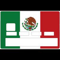 Sticker pour carte bancaire, Drapeau du MEXIQUE