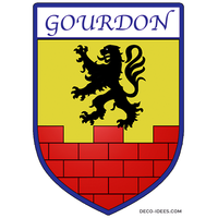 Sticker Blason de ville GOURDON