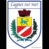 Sticker Blason de ville CAGNES SUR MER