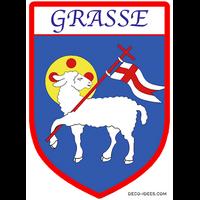 Sticker Blason de ville GRASSE