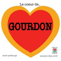 Sticker Le Coeur de  GOURDON