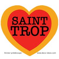 Sticker Le Coeur de SAINT TROP