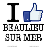 Sticker I LIKE BEAULIEU SUR MER
