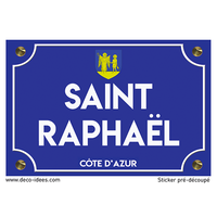 Sticker plaque de rue, SAINT RAPHAËL
