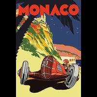 Sticker, format Carte Postale, MONACO