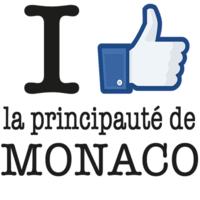 Sticker I LIKE la principauté de MONACO