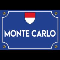 Sticker plaque de rue, MONTE CARLO