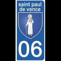 2 stickers pour plaque d'immatriculation pour Auto, 06 ST PAUL DE VENCE