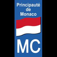 Sticker pour plaque d'immatriculation, Principauté de MONACO