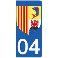 2 stickers pour plaque d'immatriculation pour Auto, 86 Vienne