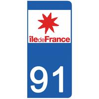 2 stickers pour plaque d'immatriculation pour Auto, 91 Essone
