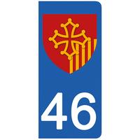 2 stickers pour plaque d'immatriculation pour Auto, 46 Lot