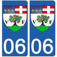 2 stickers pour plaque d'immatriculation, 06 Villefranche sur mer