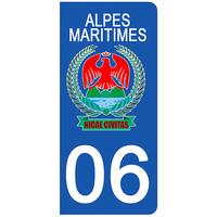 2 stickers pour plaque d'immatriculation pour Auto, 06 Blason de NICE revu par DgedeNICE