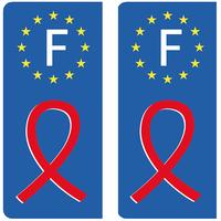 2 stickers pour plaque d'immatriculation pour Auto, Aide au SIDACTION