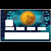Sticker pour carte bancaire, BITCOINS, par le DgédeNice