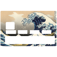 Stickers CB, autocollant pour carte bancaire, La Grande Vague de Kanagawa de Hokusai