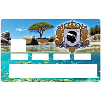Sticker pour carte bancaire, entre terre et mer Corse