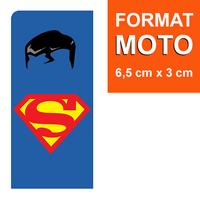 1 sticker pour plaque d'immatriculation MOTO, Superman