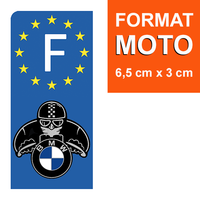1 sticker pour plaque d'immatriculation MOTO, BMW