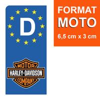 1 sticker pour plaque d'immatriculation MOTO, Allemagne, HARLEY DAVIDSON