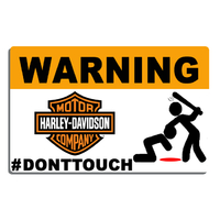 Sticker WARNING, Ne touche pas !! HARLEY DAVIDSON